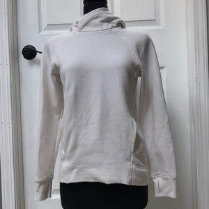 Lululemon white fleece sweatshirt